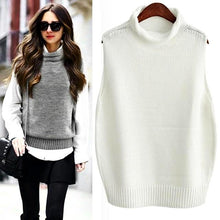 Rolled Collar Sweater Vest-The fashionabler