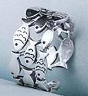 Sterling Silver Fish Ring-The fashionabler