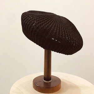 Cotton Knit Beret-The fashionabler