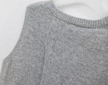 Slit Back Cashmere Blend Sweater Vest-The fashionabler