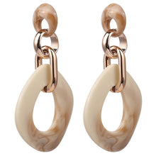 Horn & Gold Statement Earrings-The fashionabler