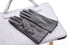 Studded Leather Gloves-The fashionabler
