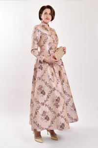 Brocade Evening Gown - Wide Size Range-The fashionabler