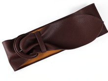 Wide Supple Faux Leather Belt-The fashionabler