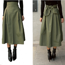 Tie-back Waist Skirt-The fashionabler