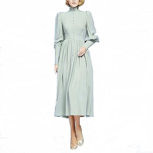 Victoriana Midi Dress-The fashionabler