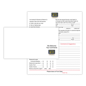 MainStay Suites Comment Card