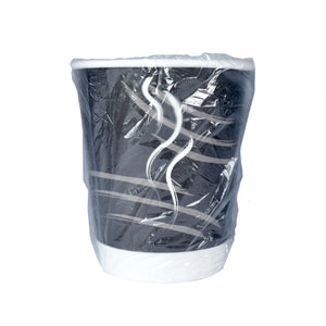 Double Wall Cup 9 oz - Individually Wrapped- Black