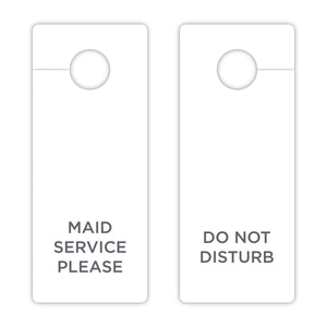 Do Not Disturb - Door Hanger - Maid Service