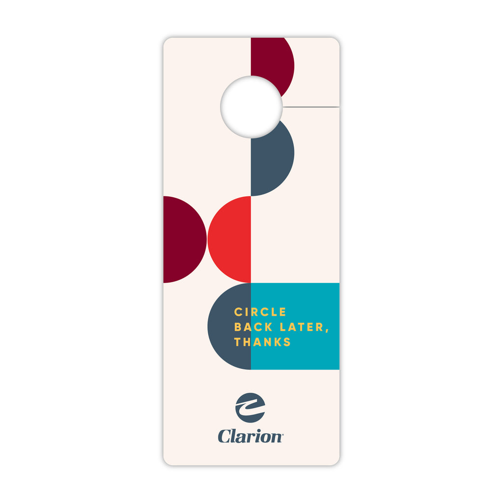 Clarion Do not Disturb Door Sign Front