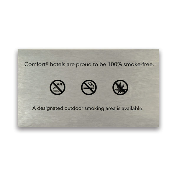 Non-Smoking Exterior Plaque