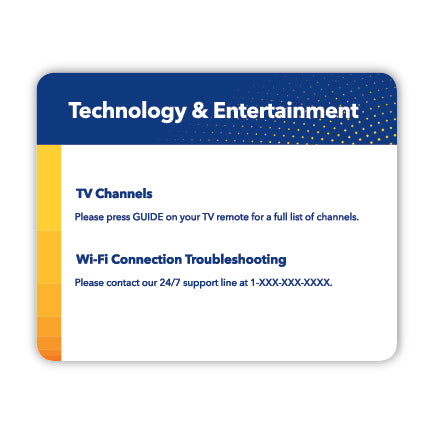 Comfort Inn Tech Card- Small