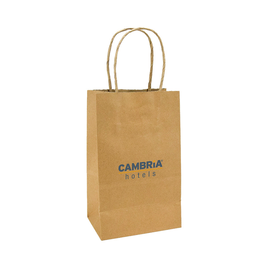 Cambria Branded Kraft Gift Bag