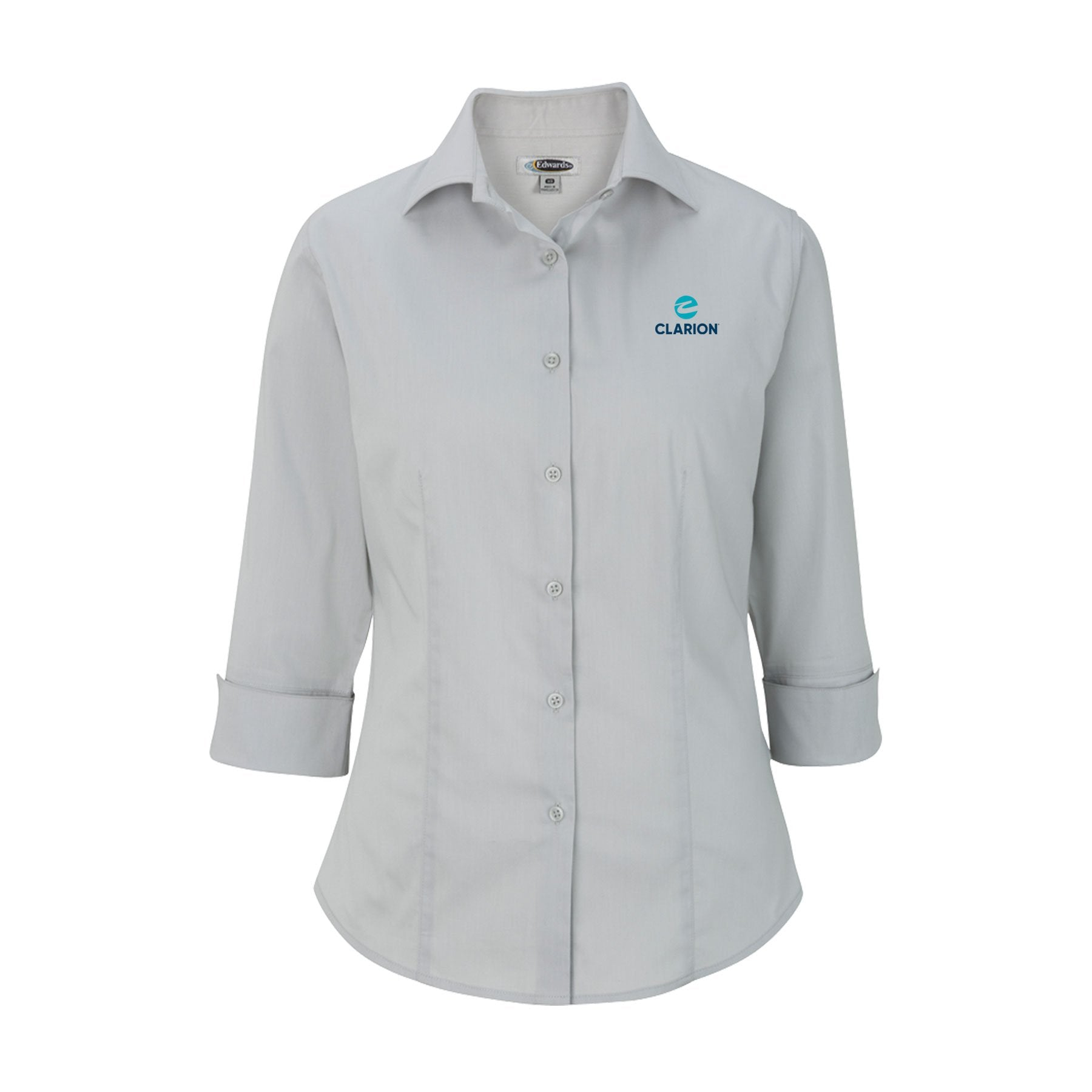 Women's Comfort-Stretch Broadcloth Shirt - Clarion