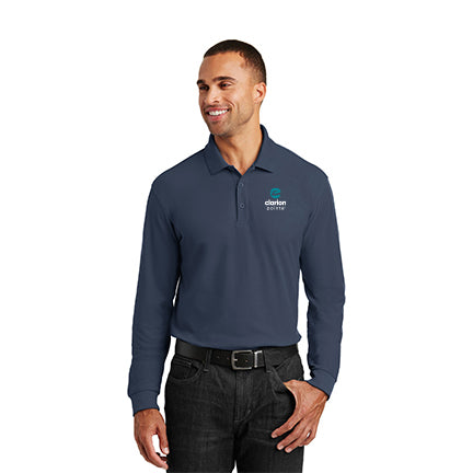 Men's Long Sleeve Classic Core Polo - Clarion Pointe