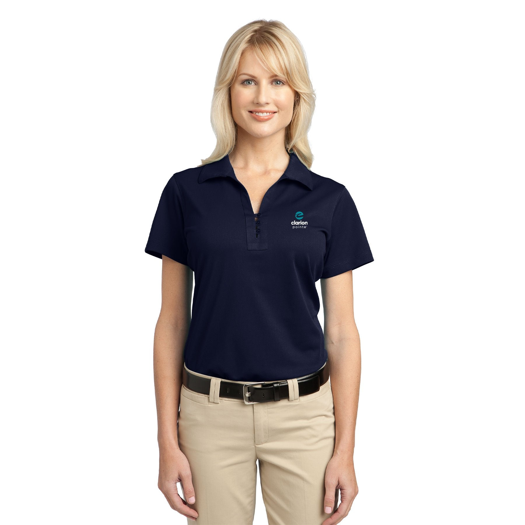 Women's Tech Pique Polo - Clarion Pointe
