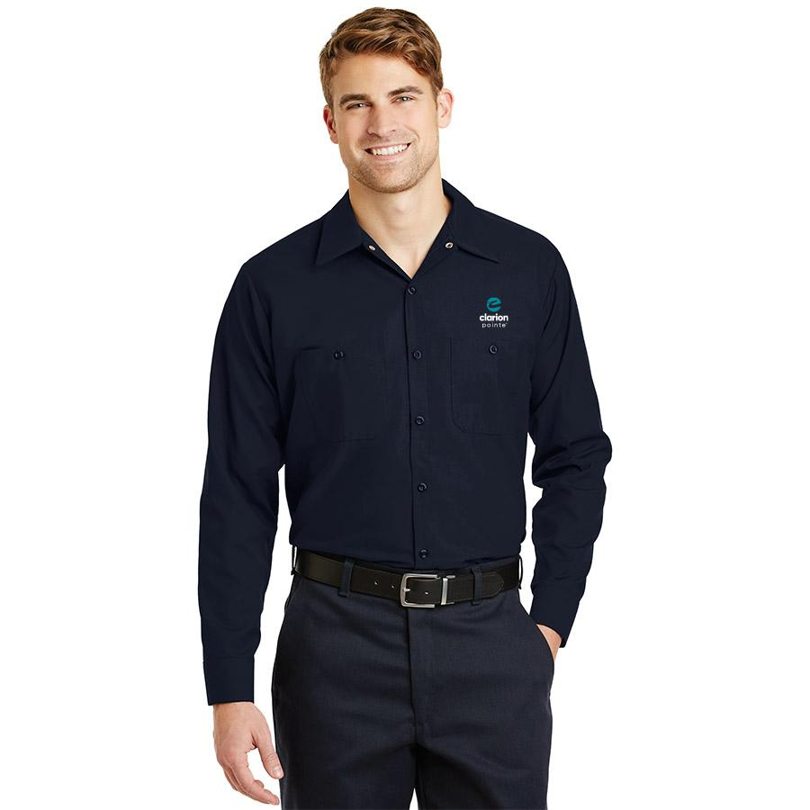 Men's Long Sleeve Work Shirt - Clarion Pointe