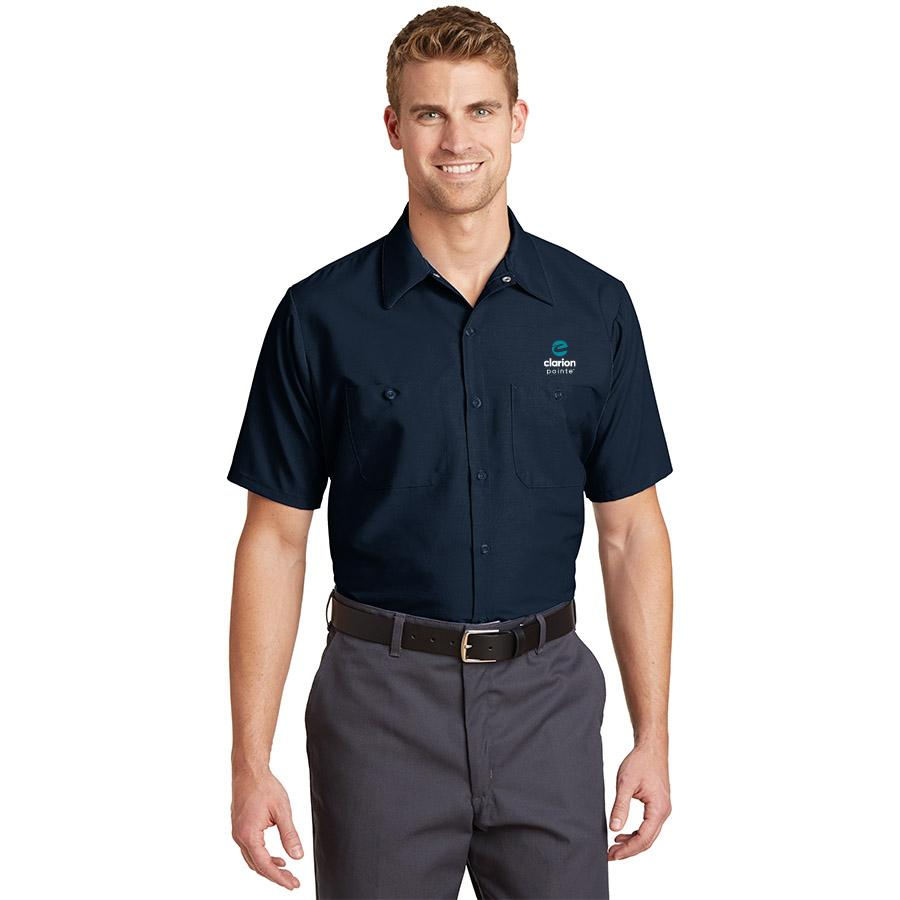 Men's Short Sleeve  Work Shirt - Clarion Pointe
