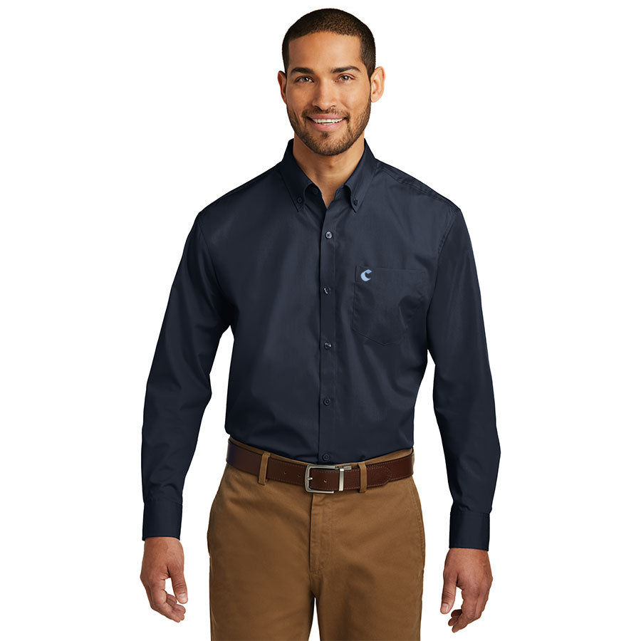 Men's Long Sleeve Carefree Poplin Shirt - Comfort Suites