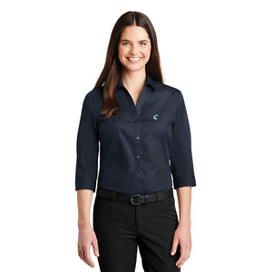 Women's 3/4-Sleeve Carefree Poplin Shirt - Comfort