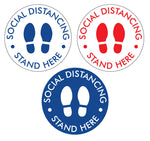 Social Distancing - Floor Decals