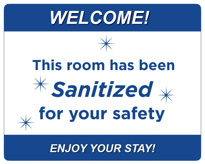 Room Sanitized - Signs