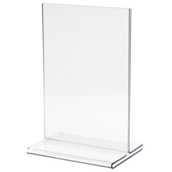 "Clear Acrylic Stand - 4"" x 6"" ""T"" Style"