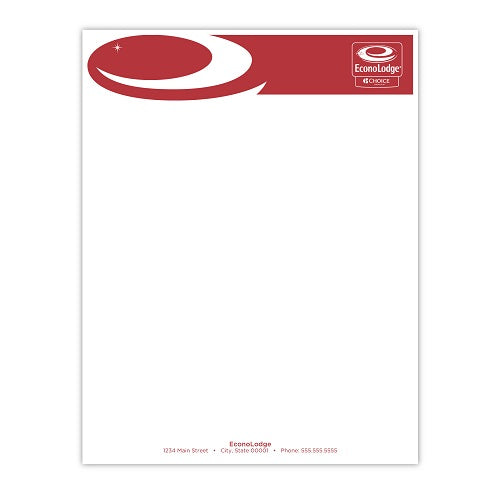 Econo Lodge Letterhead