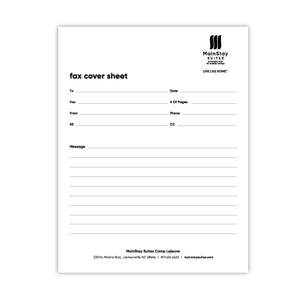 Fax Cover Sheet - MainStay