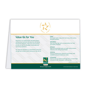 Quality Satisfaction Guarantee Card
