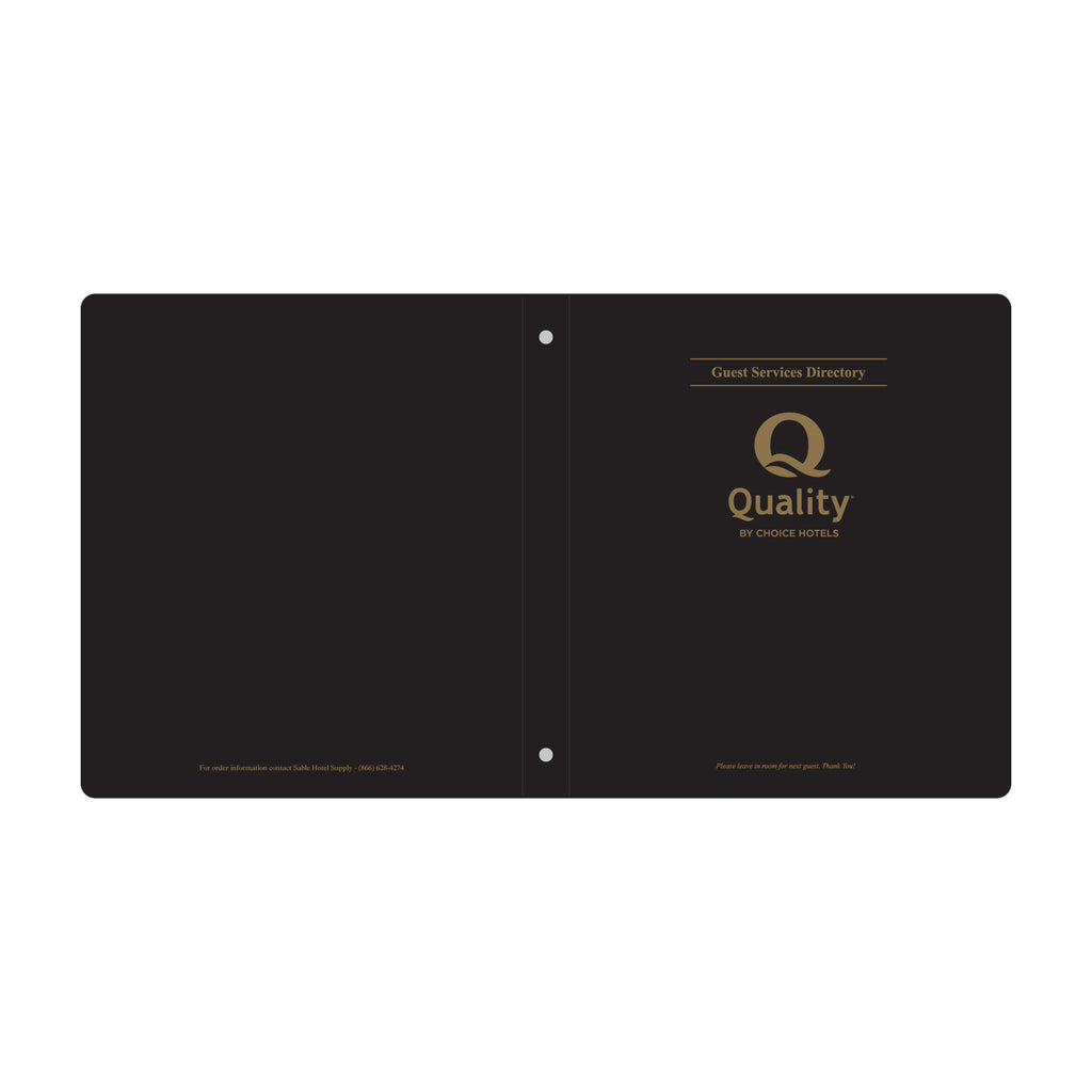 Quality Inn Guest Room Directory Binder