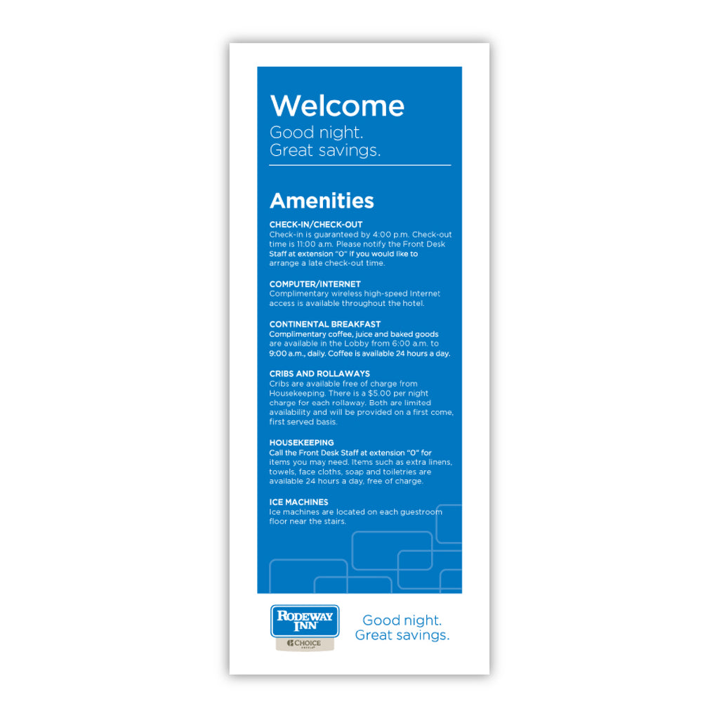 Rodeway Welcome Card