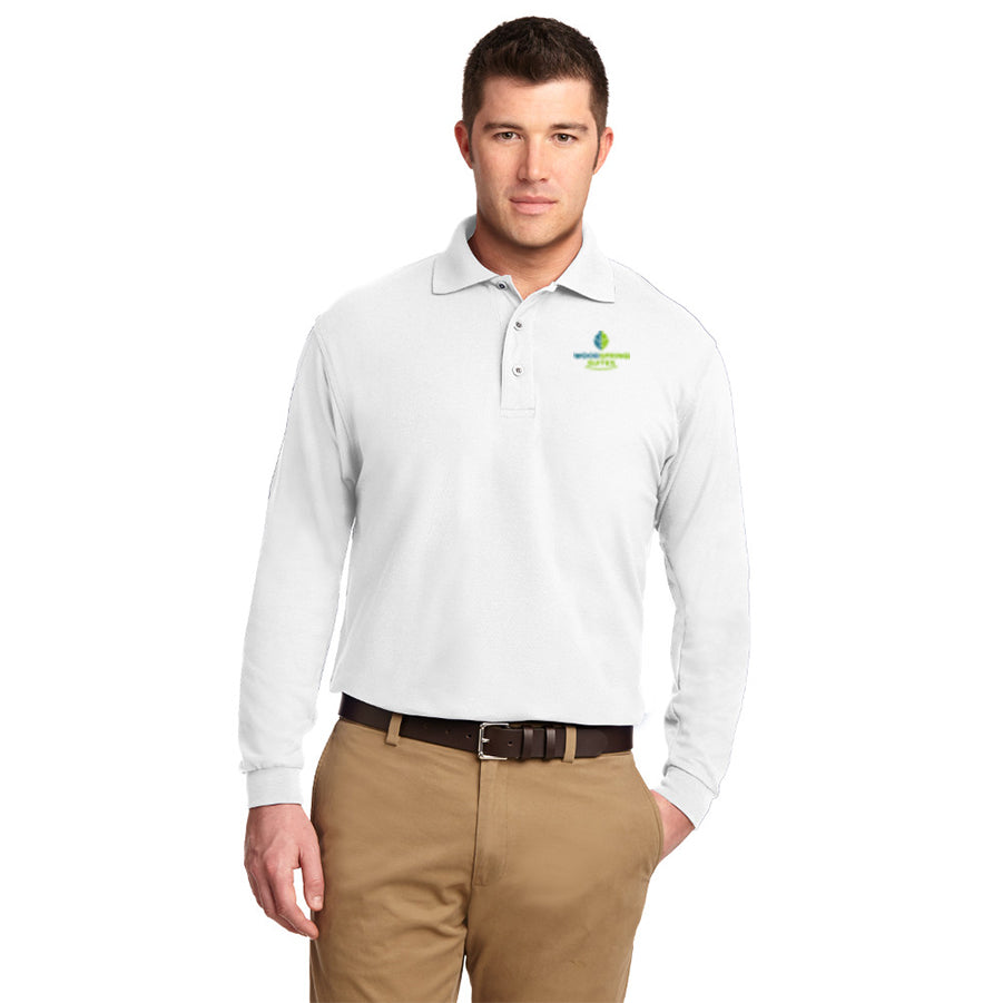 Men's Long Sleeve Silk Touch Polo - WoodSpring Suites