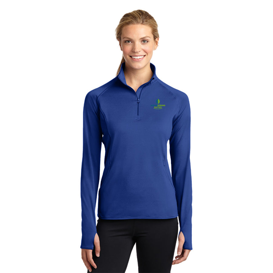 Women's Stretch 1/2-Zip Pullover - WoodSpring Suites