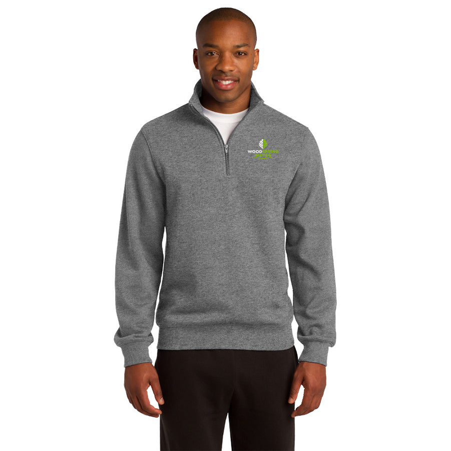 Men's 1/4-Zip Sweatshirt - WoodSpring Suites