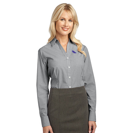 Women's Easy-Care Plaid Poplin Shirt