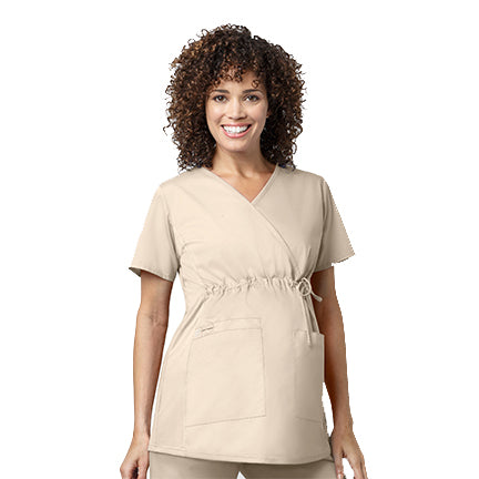 Maternity Mock-Wrap Top - Econo Lodge