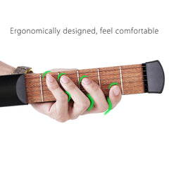 Portable Pocket Guitar for Finger Exercise, Scales & Chords Practice Tool
