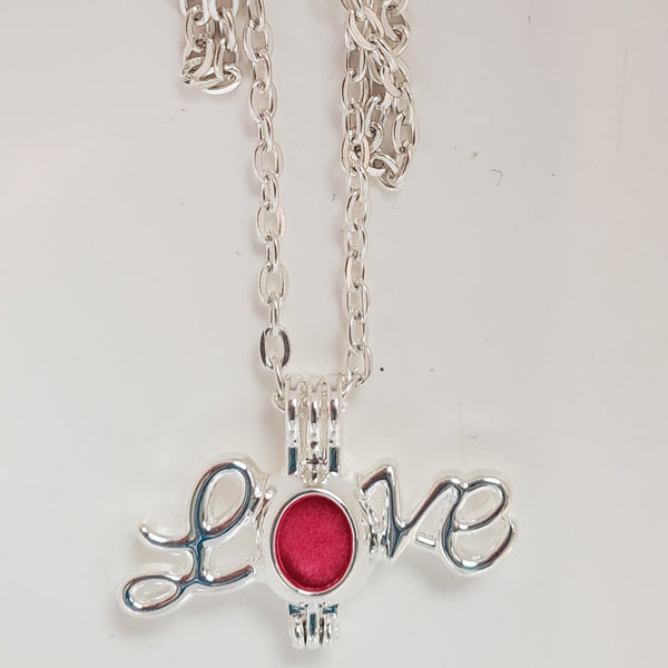 "Love pendant necklace on 24"" chain"