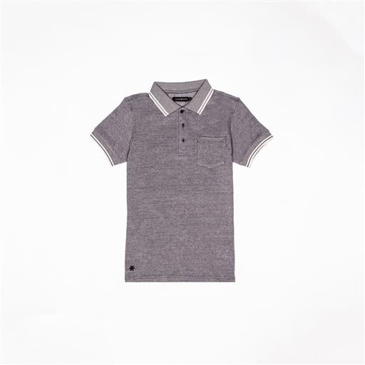 Men Polo Shirt - Black/White
