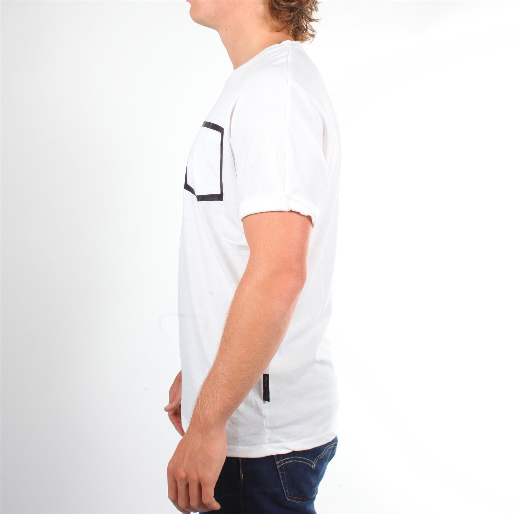 Men Burnout Tee - White