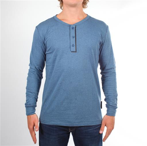Long Sleeve Henley - Teal