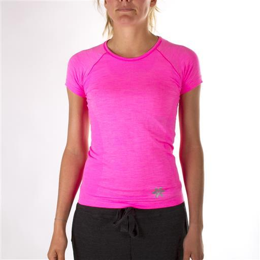 Tech Knit Short Tee - Pink Melange