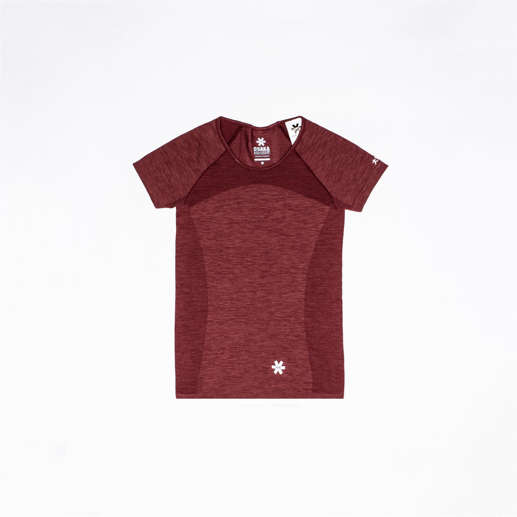 Tech Knit Short Sleeve - Maroon Melange