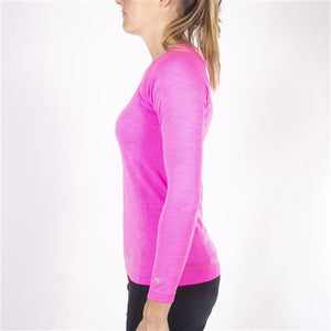 Tech Knit Tee Long - Pink Melange