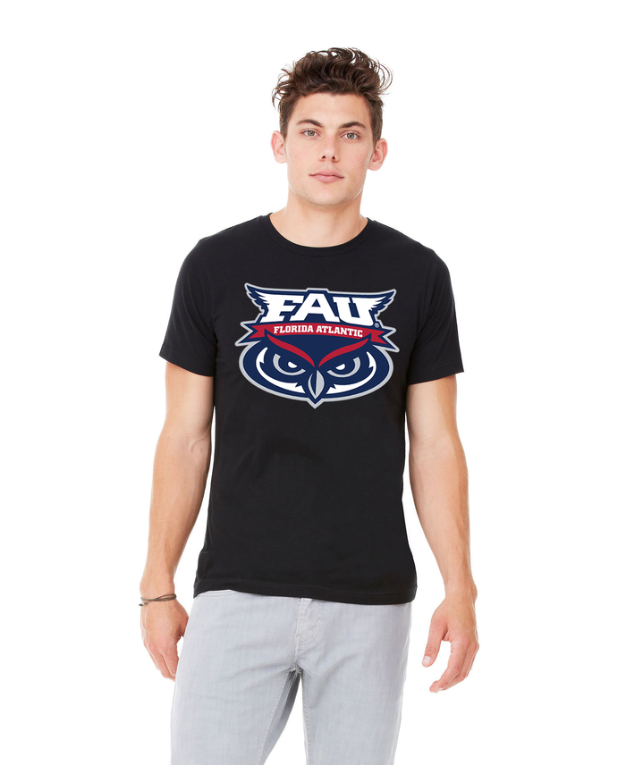 FAU Unisex Heather CVC T-Shirt w/ FAU Florida Atlantic & Owlsley Logo