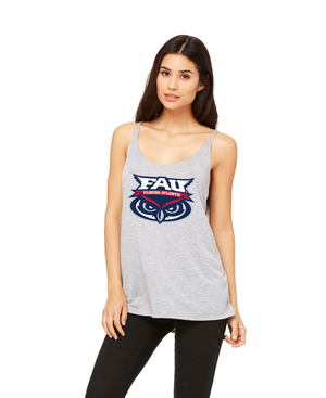FAU Women's Slouchy Fit Tank w/ FAU Florida Atlantic & Owlsley Logo