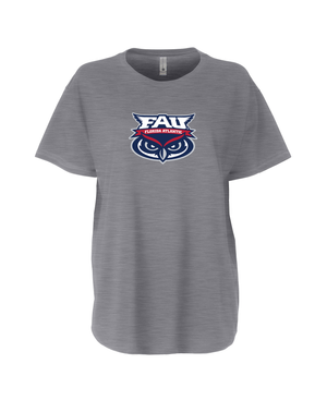 FAU Women's Loose Fit Tee w/ FAU Florida Atlantic & Owlsley Logo