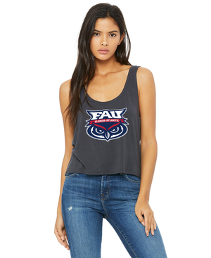 FAU Drapey Fit Boxy Tank w/ FAU Florida Atlantic & Owlsley Logo