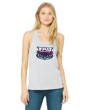 FAU Relaxed Fit Tank Top For Women w/ FAU Florida Atlantic & Owlsley Logo